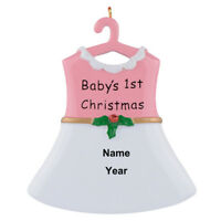 Personalized Baby Girl Skirt Ornament Baby's 1st Christmas Gift/Hanging Ornament