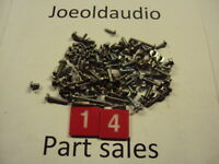 Vintage Silver Colored Receiver/Amplifier Screws. 4.0 Ounces. Sold as Pictured.