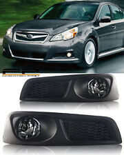 For 2010 2011 2012 Subaru Legacy BM9 Fog Lights Clear Lens Complete Kit + Wiring