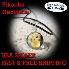 Pikachu Pokemon Poke Ball Go Necklace Sphere Kawaii Cute with Rope Cosplay