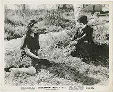 "Paulette Goddard & Charles Chaplin 1936 ""Modern Times"" Movie Publicity Still b/w"