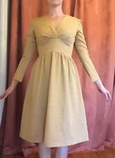 New listing Vintage Gold Sparkly Long Sleeve Dress From The 1970S Small