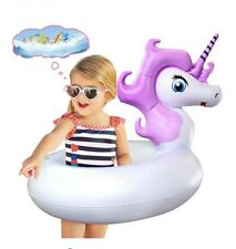 Unicorn Pool Floats, Swim Tubes for Kids, Inflatable Party Tube Pool Toys for.