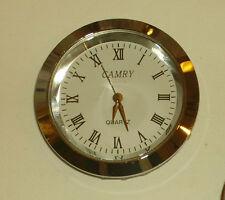 OROLOGIO DA INCASSO o da Tasca Meccanismo COMPLETO mm.37  Metallo Cromato Clock