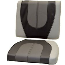 Crestliner Boats 2-Tone Grey Vinyl Marine Boat Bow Seat Cushions (Set of 2)