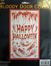 Bloody Happy Halloween Door or Wall Party Decoration Cover (100 cm x 180 cm)