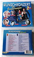 Wunschkonzert der Erinnerungen - Bibi Johns, Conny Froboess,... Box mit 2 CD TOP