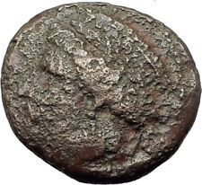 AIGOSPOTAMOI in THRACE 300BC Demeter Goat Authentic Ancient Greek Coin i63838