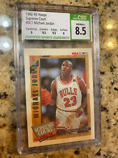 1992-93 NBA Hoops Supreme Court #SC1 Michael Jordan CSG 8.5 Subs: (9.5x2/9/8)