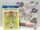 Creative Charm  Psalms Coloring Books SET For Adults With Colored Pencils NEW