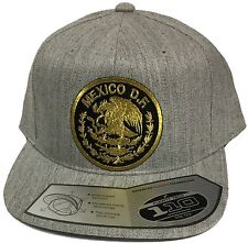 Mexico Df Logo Federal Hat Heather Grey Flexfit Tech 110 Snap Back Flat Build