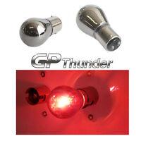 1157 1154 2057 2357 2397 3496 Chrome Silver BAY15D Light Bulb Red 2pcs
