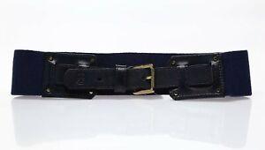 TORY BURCH Woman's Amy Waist Belt Navy Blue Sz XXS 135216