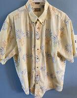 Natural Issue Mens Wrinkle Free Hawaiian Shirt Flowers Sz XLT