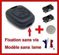 Coque de Clé Plip SANS VIS Pour Peugeot Partner Expert 406 + 2 Switch + Pile