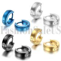 Stainless Steel Hot Fashion Women's Men's Huggie Hoop Earrings Ear Studs 2pcs