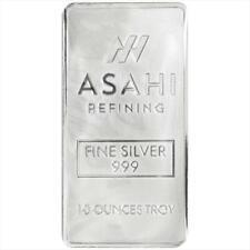 10 OZ Asahi Silver Bar .999 fine silver with free shipping