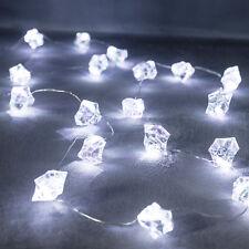 20er LED Eiswürfel Micro Lichterkette Eis DEKO Beleuchtung Batterie Lights4fun