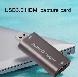 HDMI vers USB 3.0 Audio Vidéo Capture 4K de jeu, carte de capture Dongle