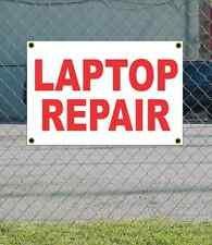 2x3 LAPTOP REPAIR Red & White Banner Sign NEW Discount Size & Price FREE SHIP