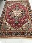 Hand Knotted Woolen Agra Indian Rug