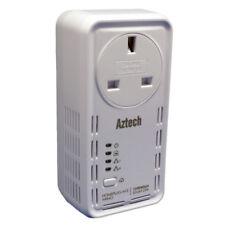 Aztech 1200AV SmartLink PowerLine HomePlug Ethernet Adapter Mains Pass Through
