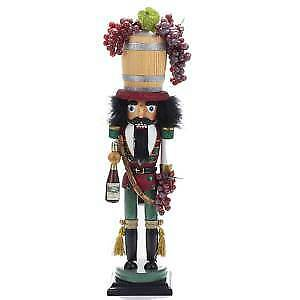"19"" Hollywood™ Wine Barrel Hat Nutcracker w"