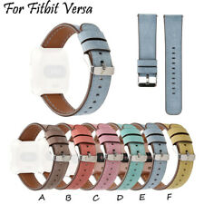Replacement Genuine Leather Watch Band Strap For Women Men Gift For Fitbit Versa
