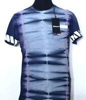 BLAUER USA Herren T-Shirt blau blue blu Batik Metallic M L XL Print NEU Etikett!