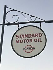 STANDARD GASOLINE OIL MOBILE PHILLIPS GULF POLE SIGN, SWINGER SIGN