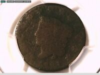 1821 Large Cent PCGS Genuine Exc. Corrosion - P/FR Detail 38421291 Video