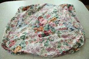 FLAWS Ralph Lauren Allison Queen Fitted Sheet Cottagecore Multi Floral Roses