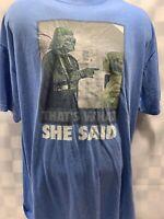 STAR WARS That's What She Said Darth Vader Princess Leia T-Shirt Size 2XL