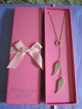 Victoria Secret Goldtone Angel Wings Charm Necklace NIB