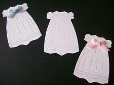 CHRISTENING GOWN BAPTISM BABY BIRTH DRESS die cuts - WHITE