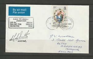 Falklands/St Helena, 1983 Cover St Helena to UK, pmk RMS ST Helena & South Georg