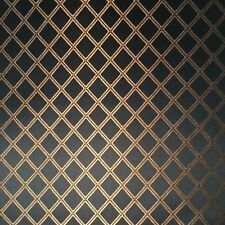 Antique Radio Speaker/Grille Cloth, 18x24, Black w/ Gold Diamond Metallic