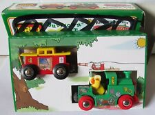 New BRIO Richard Scarry's Busytown Train Huckle the Cat Wooden Railway 32515