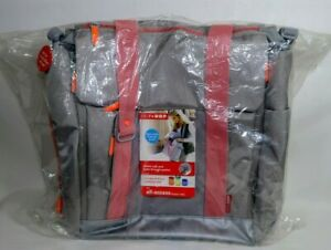 NEW Skip Hop FIT All-Access Diaper Bag + 8 Piece Container Set - Gray Pink -