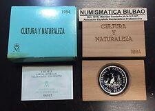 ESPAÑA 2000 PESETAS 1994 PLATA GARZAS IMPERIALES CULTURA y NATULEZA ESTUCHE FNMT