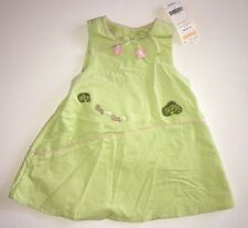 NWT Gymboree My Little Tree House 6-12 Green Squirrel Corduroy Jumper Dress