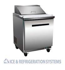 "Sun Ice 27"" Commercial Salad & Sandwich Refrigerator Prep Table Cooler SUNST-27"