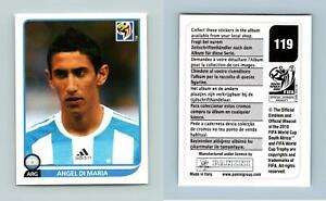 Angel Di Maria #119 South Africa 2010 Fifa World Cup Panini Sticker
