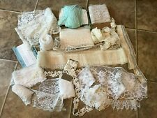 HUGE LOT Antique Lace, Trim, Eyelet, Netting, Victorian Cotton Crotchet YARDS