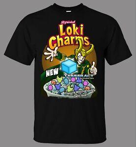 Bifrosted Loki Charms T-Shirt Superhero Anti Hero Asgard