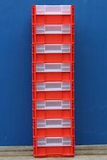 8x SSI Schäfer RL-KLT Lagerbox Lagerkasten Fenster Kunststoff rot 30x40x14,5 cm