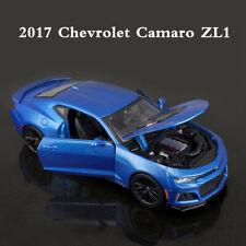 Maisto 1:24 2017 Chevy Chevrolet Camaro ZL1 Racing Sports Car Model Alloy Blue