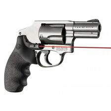 Hogue Red Laser Enhanced Grip for S&W J Frame Round Butt Rubber Red Laser