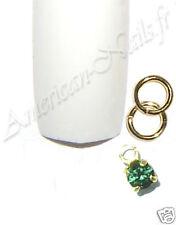 Piercing bijou Ongle Strass SWAROVSKI Tourmaline 2,5 mm Nail Art