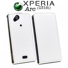 Handy Tasche Flip Style Case Sony Ericsson Xperia Arc / Arc S Weiss Schutzhülle